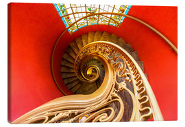 Canvastavla  Spiral staircase in Brittany
