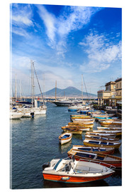 Akrylglastavla  Port of Naples and Mount Vesuvius