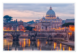 Premiumposter  The Basilica of the Vatican of St. Peter