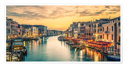 Premiumposter Grand Canal at the blue hour