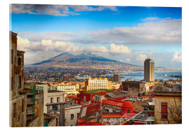 Akrylglastavla  Naples and Mount Vesuvius