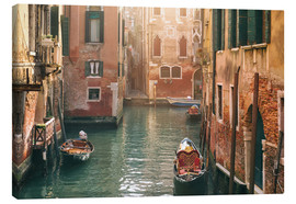 Canvastavla  Canal in Venice