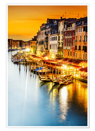 Premiumposter Grand Canal at dusk