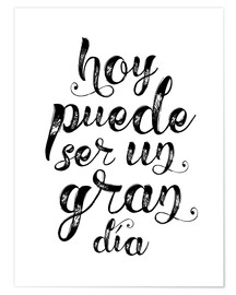Poster A great day - Spanish