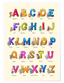 Premiumposter  English ABC for Children - Elena Schweitzer