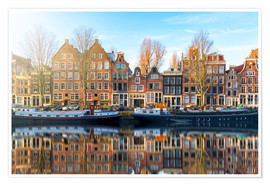 Premiumposter  Amsterdam morning reflections - George Pachantouris