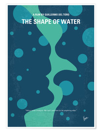 Poster No902 My The Shape of Water minimal movie poster
