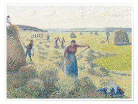 Premiumposter The haymaking, Eragny