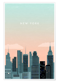 Poster  Illustration of New York - Katinka Reinke