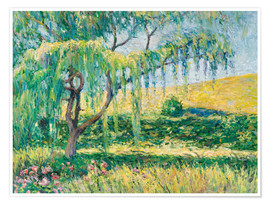 Premiumposter Willow, rose garden and water lilies in Giverny