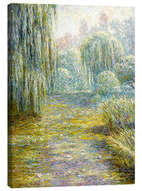 Canvastavla  The garden in Giverny - Blanche Hoschede-Monet