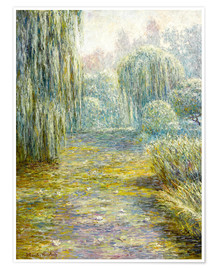 Premiumposter  The garden in Giverny - Blanche Hoschede-Monet