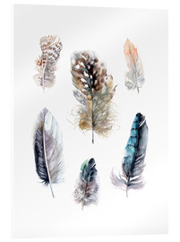Akrylglastavla  Feathers collection - Verbrugge Watercolor