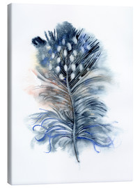 Canvastavla  Feather blue - Verbrugge Watercolor