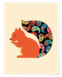 Premiumposter  Paisley Squirrel - Andy Westface