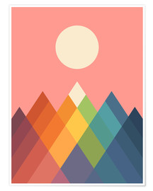 Premiumposter  Rainbow Peak - Andy Westface