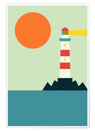 Premiumposter  Light House - Andy Westface
