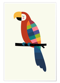 Premiumposter  Rainbow Parrot - Andy Westface