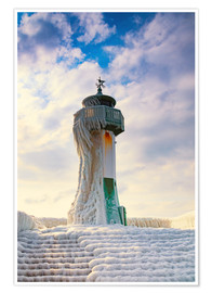 Premiumposter  Frozen Lighthouse - Simone Splinter