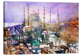 Canvastavla  Istanbul, view to the blue mosque - Johann Pickl