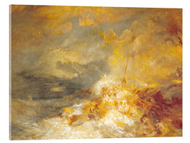 Akrylglastavla  Fire at sea - Joseph Mallord William Turner