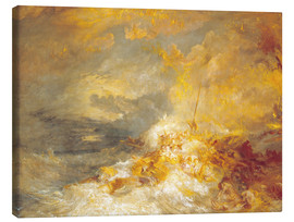 Canvastavla  A Disaster at Sea - Joseph Mallord William Turner