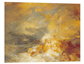 PVC-tavla  A Disaster at Sea - Joseph Mallord William Turner