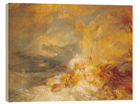 Trätavla  A Disaster at Sea - Joseph Mallord William Turner