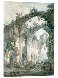 Akrylglastavla  interior of tintern abbey monmouthshire - Joseph Mallord William Turner