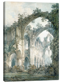 Canvastavla  interior of tintern abbey monmouthshire - Joseph Mallord William Turner