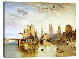 Canvastavla  Cologne, the arrival of a post boat - Joseph Mallord William Turner