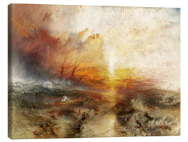 Canvastavla  Slavskeppet - Joseph Mallord William Turner