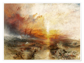 Premiumposter  Slavskeppet - Joseph Mallord William Turner