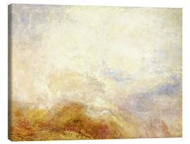 Canvastavla  A mountain scene, Val d'Aosta - Joseph Mallord William Turner