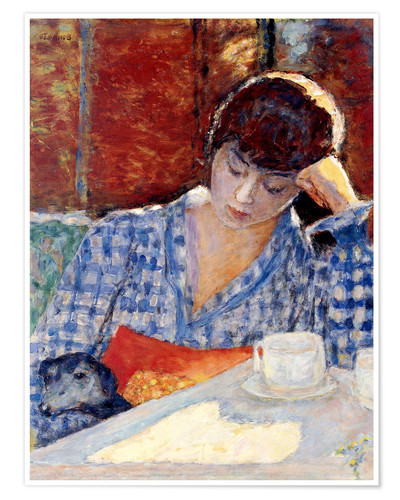 Premiumposter Woman with a dog