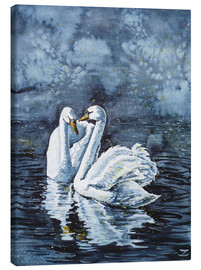 Canvastavla  Swan Couple - Zaira Dzhaubaeva