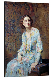 Aluminiumtavla  Portrait of a Lady - Albert Henry Collings