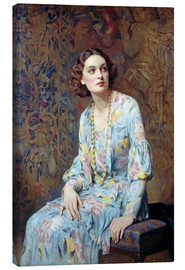 Canvastavla  Portrait of a Lady - Albert Henry Collings