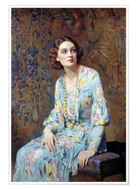 Premiumposter  Portrait of a Lady - Albert Henry Collings