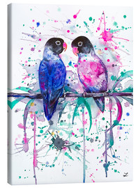Canvastavla  Love is in the air! Lovebirds - Zaira Dzhaubaeva