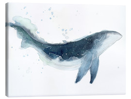 Canvastavla  Watercolor Whale - Déborah Maradan