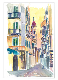 Premiumposter  Marvellous Corfu Streets in Greece - M. Bleichner