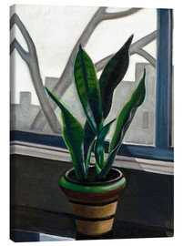 Canvastavla  Plant on a windowsill - Prudence Heward