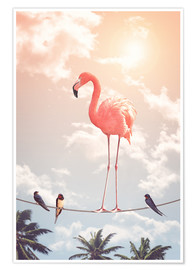 Premiumposter Flamingo and Friends