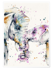 Poster That type of love (elephants)