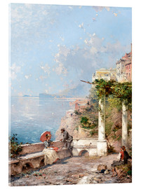 Akrylglastavla  Sorrento, Gulf of Naples - Franz Richard Unterberger
