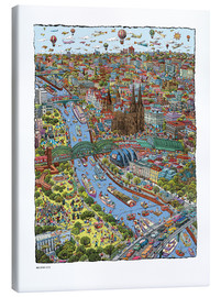 Canvastavla  Cologne - Cartoon City