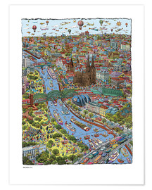 Premiumposter  Cologne - Cartoon City