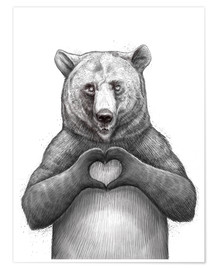 Premiumposter Bear with heart