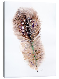 Canvastavla  Feather brown - Verbrugge Watercolor